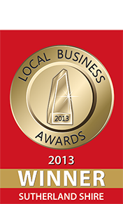 Sutherland Shire Local Business Award Winner 2013